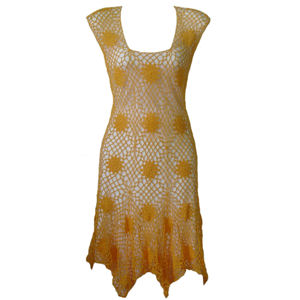 Front of the Blooming Sunflower Motif Dress