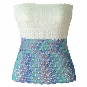 Front of the Fish Scale Tube Top
