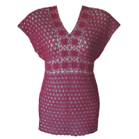 Front of the Floral Motif Accented Tunic Top