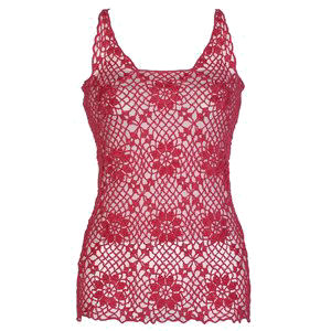 Front of the Sleeveless Motif Top